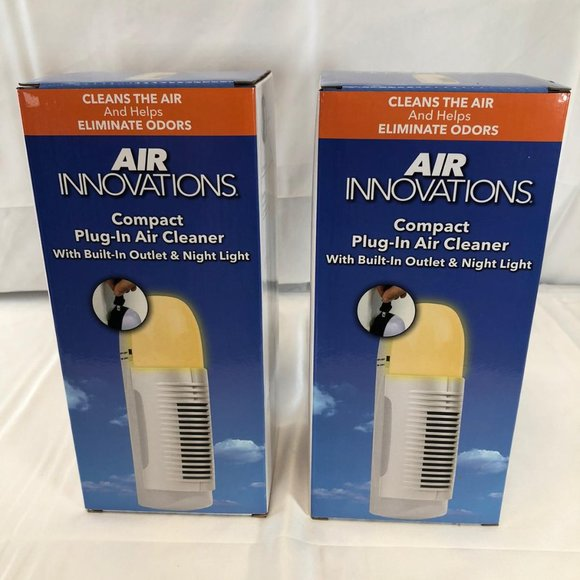 S/2 Plug-In Air Purifiers with Nightlight